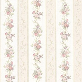 Lorelai Light Green Floral Stripe Wallpaper