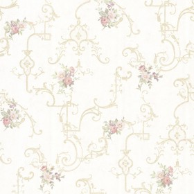 Lori Light Green Floral Trellis Wallpaper