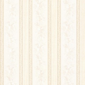 Trish Champagne Satin Floral Scroll Stripe Wallpaper