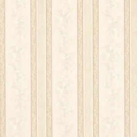 Trish Cream Satin Floral Scroll Stripe Wallpaper