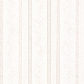 Trish Platinum Satin Floral Scroll Stripe Wallpaper