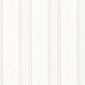 Trish White Satin Floral Scroll Stripe Wallpaper