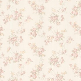 Tiffany Blush Satin Floral Trail Wallpaper