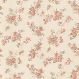 Tiffany Peach Satin Floral Trail Wallpaper