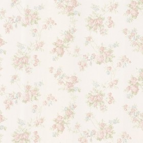 Tiffany Pastel Satin Floral Trail Wallpaper