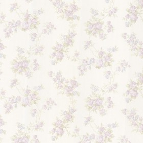 Tiffany Lavender Satin Floral Trail Wallpaper
