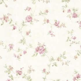 Mary Mauve Floral Vine Wallpaper