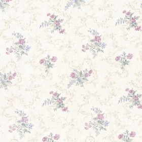 Marie Purple Delicate Floral Bouquet Wallpaper