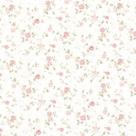 Alex Pink Delicate Satin Floral Trail Wallpaper