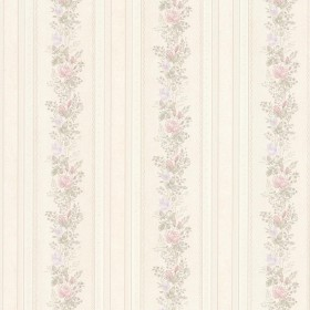 Alexis Pastel Satin Floral Stripe Wallpaper