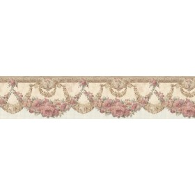 Marianne Salmon Floral Bough Wallpaper Border