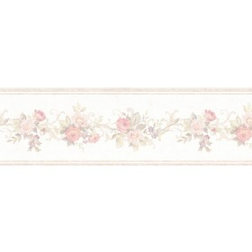 Lory Blush Floral Wallpaper Border