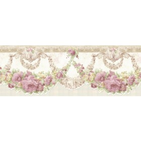 Marianne Mauve Floral Bough Wallpaper Border