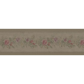 Alexa Olive Floral Meadow Wallpaper Border