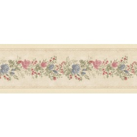 Alexa Beige Floral Meadow Wallpaper Border