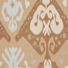A0465 BLUE BEIGE RM Coco Fabric