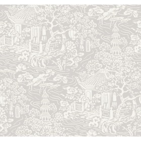 AF6573 Grey Chinoiserie Wallpaper