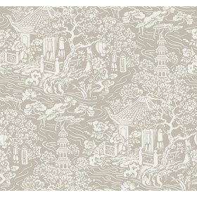 AF6574 Beige Chinoiserie Wallpaper