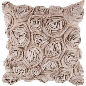 Bed of Flowers Tan Pillow | AR003-1818P