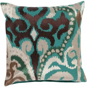 Radiant Swirl Green, Multi-Color Pillow | AR074-2222D