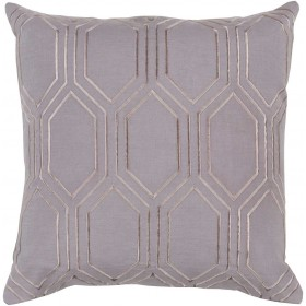 Skyline Pillow with Down Fill in Charcoal | BA003-2222D