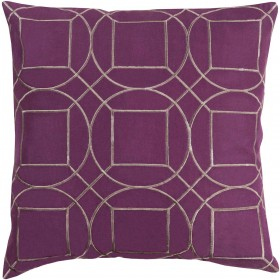 Skyline Pillow with Poly Fill in Eggplant | BA012-1818P