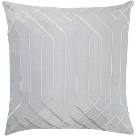 Skyline Pillow with Down Fill in Light Gray | BA016-2222D