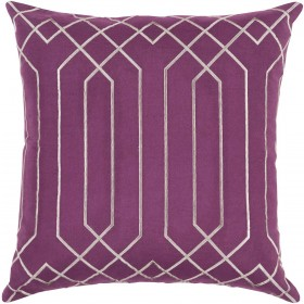 Skyline Pillow with Down Fill in Eggplant | BA020-1818D