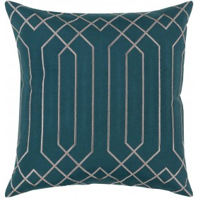 Skyline Pillow with Down Fill in Teal | BA022-2222D