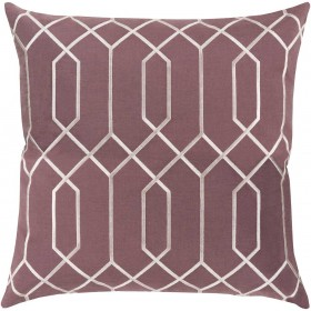 Skyline Pillow with Poly Fill in Eggplant | BA036-2020P