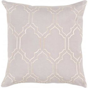 Skyline Trellis Pillow with Poly Fill in Light Gray | BA043-2222P