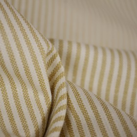 Baldwin Maize Gold Ticking Stripe Fabric