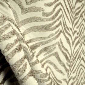 Balfour Linen Taupe Grey Chenille Zebra Animal Skin Upholstery Fabric