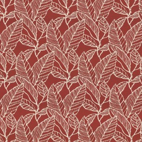 Banana Leaf Red Delicious Kasmir Fabric
