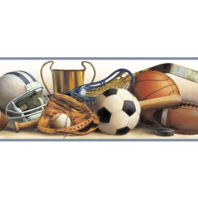 Hansel Cream Classic Sports Portrait Wallpaper Border