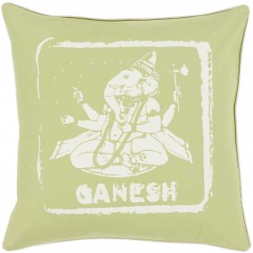 Mike Farrell Ganesh Green, Tan Pillow | BKB007-1818P
