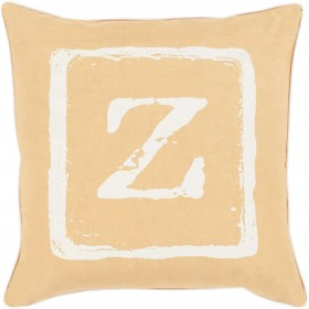 "Mike Farrell ""Z"" Yellow, Tan Pillow 