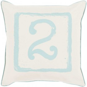 Mike Farrell Terrific Two Blue, Tan Pillow | BKB043-1818D