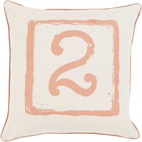 Mike Farrell Terrific Two Orange, Tan Pillow | BKB044-2222P