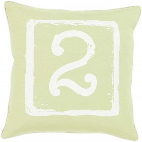 Mike Farrell Terrific Two Green, Tan Pillow | BKB049-2020D