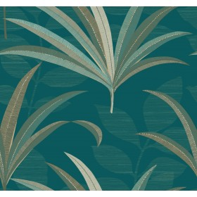 CA1549 Blues El Morocco Palm Wallpaper