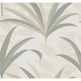 CA1551 White/Off Whites El Morocco Palm Wallpaper