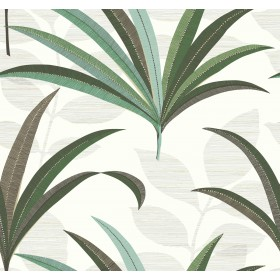CA1553 White/Off Whites El Morocco Palm Wallpaper