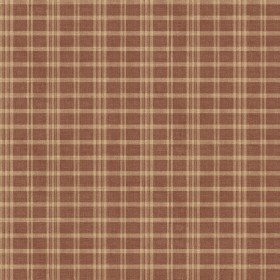 Prairie  Dark Red Gingham Wallpaper