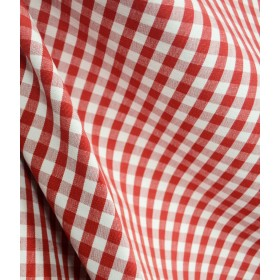 DC03 Chester Berry White Check Plaid Fabric