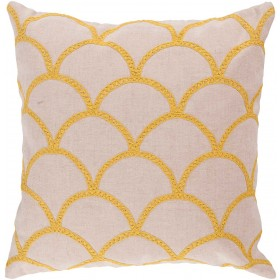 Overlapping Oval Tan, Yellow Pillow