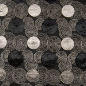 Concentric Black Kasmir Fabric