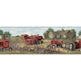 Oakley Red Countryside Wallpaper Border