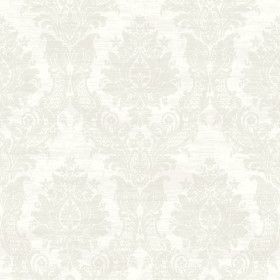 Sinclair Champagne Textured Damask Wallpaper