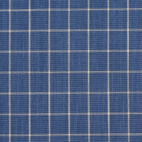 D123 Wedgewood Checkerboard Fabric by Charlotte Fabrics
